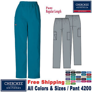Cherokee Scrubs ORIGINALS Women's Medical Pull on Cargo Pant 4200 Regular