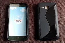 Custodia cover guscio in silicone tpu S-line nera per huawei ascend Y600