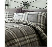 Kelso Check Charcoal Reversible Duvet Cover by Catherine Lansfield
