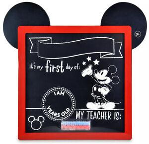 Disney New Mickey Mouse Chalkboard First Day of School Board Milestone Boy Girl