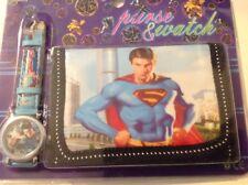 Superman Reloj Y Billetera Conjunto