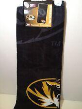 New Missouri Collegiate Black Cotton Beach Towel 30 x 60