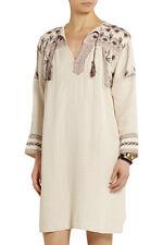 New Isabel Marant Etoile Viola Embroidered Muslin Dress White Cream Size 36 UK8