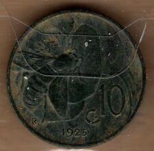 A331: Moneta Coin Regno d'Italia - Vittorio Emanuele III: 10 Centesimi Ape 1925