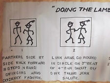 doing the lambeth walk oi !  original 1940`s mini dance instructions poster
