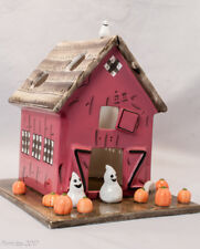 White Barn Candle Co. Halloween Barn Tea Candle Holder Pumpkins Ghosts New