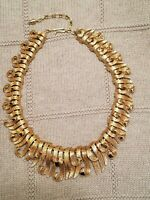 """Boucher Vintage Gold Tone Necklace 16"""" Signed and Numbered"""