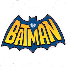 1966 era Batman Bat Signal Comics TV Show Inside Window Decal Tracked Shipping