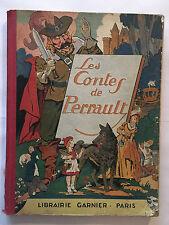 LES CONTES DE PERRAULT 1933 ILLUSTRE CHROMOTYPOGRAVURES DE BRUN