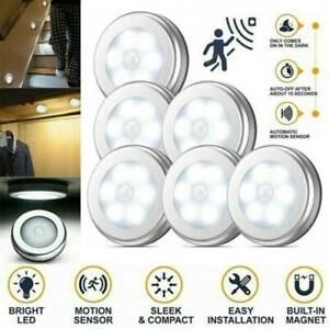 6 LED PIR Motion Sensor Night Light Infrared Wireless Wall Lamp Battery Powered.