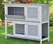 Hasenstall XL Kaninchenstall Hasenkäfig Hamsterkäfig Meerschweinchen Bommel grau