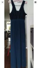 BCBG Generation Teal And Black Lace Maxi Dress size 8
