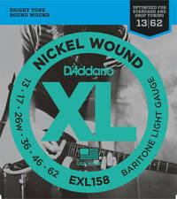 D'Addario EXL158 Box 10 XL Nickel Baritone-Light 013-062 Electric Guitar Strings
