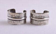 Vintage egyptian siwa berber Gypsy Bedouin silver bracelets Cuff Pair