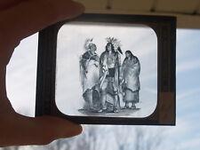 ANTIQUE MAGIC LANTERN SLIDE NATIVE AMERICAN INDIAN GROUP T.H. MCALLISTER NY