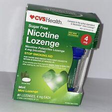 CVS Nicotine Mini Lozenges 4mg Mint 81 count exp. 11/2020 FREE SHIPPING