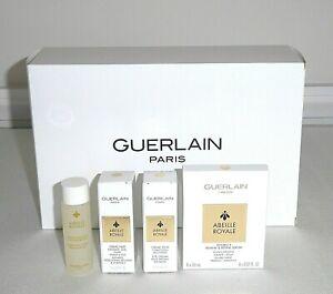 GUERLAIN ABEILLE ROYALE 4pc Serum, Lotion Toner, Eye & Night Cream Pouch $77 '23