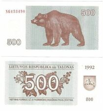 Europe Lithuania Note Banknotes