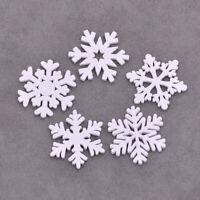 20 Pcs Christmas White Snowflake Xmas Tree Ornament Decor Home Pendant Hanging