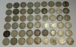 Lot of 54 - Three Cent Nickels - 1865-1881 - 3¢ W/ Problems
