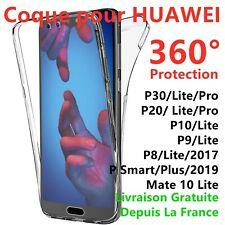 Pour Huawei P10 Llite/P20/P30 PRO Etui Coque Silicone 360 Intégral transparent