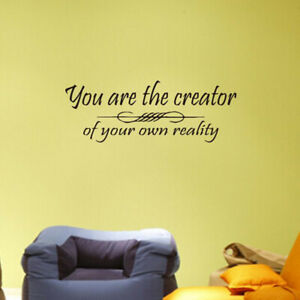 Wall Decal Stickers Living Room Bedroom Slogan Inspirational Word Quote Stickers