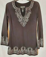 INC Int'l Concepts - Ladies Black Embellished Tunic - Petite - Holiday