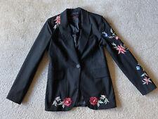Zara pinstripe floral embroidered blazer, size S