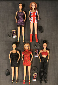 SPICE GIRLS 5 DOLLS, ACCESSORIES, Girl Power ON TOUR MINIATURES Ginger Geri Posh