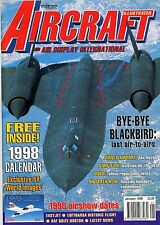 Aircraft Illustrated 1998 January SR71 Blackbird,RAF Brize Norton,Jersey