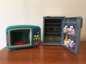 Toy Fridge And Microwave