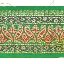 2m (6 foot) LONG Old Antique India SARI Saree TRIM Embroidered Textile 652m10
