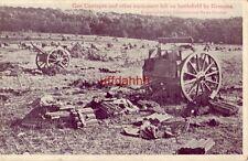 GERMAN GUN CARRIAGES & EQUIPMENT LEFT ON BATTLEFIELD Cpyrt Int'l News Service