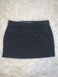 Under armour Golf Skort size 10 black loose fit pockets shorts skirt New!