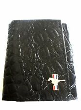 Rare Ford Mustang Men's Faux Black Leather Alligator Trifold Wallet
