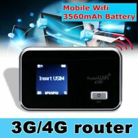 Portable 4G Wifi Wireless Router Mobile Hotspot Modem SIM Card Slot Unlocked ❤