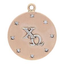 .16ctw Single Cut Diamond Chi Omega Pendant - 14k Yellow Gold