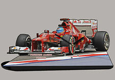MODEL CARS, FORMULA ONE , F1, FERNANDO ALONSO, FERRARI with Clock