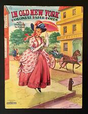 """In Old New York Colonial Paper Dolls� Saalfield Uncut Paper Dolls Vintage"