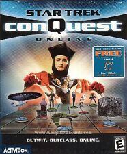 Star Trek CONQUEST ONLINE Vintage Rare PC Game BRAND NEW in Large Box!