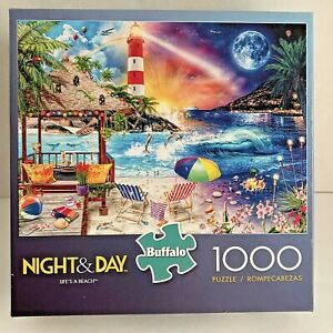 2019 Buffalo Games Jigsaw Puzzle Night And Day Lifes A Beach 1000 Pieces