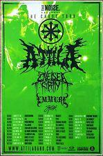 ATTILA CHELSEA GRIN EMMURE 2016 Ltd Ed RARE Chaos Tour Poster +FREE Metal Poster