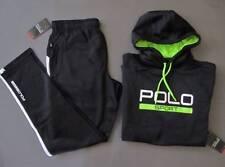 Ralph Lauren Polo Sport Track Suit Tech Fleece Outfit Black Men M Genuine NWT