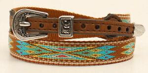 M&F Western Mens Hatband Southwestern Ribbon Brown Multi 0204802 *Fast SHIP*