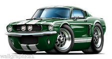 1967 Shelby GT350 Wall Graphic Vinyl Decal Garage Graphics Man Cave Bar Rooms