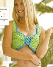 FUN IN THE SUN Halter Top/Apparel/Crochet Pattern INSTRUCTIONS ONLY