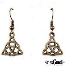 Bijou celtique gothique mariage fait main Boucles oreilles pendentif  triquetra