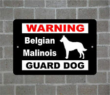 Belgian Malinois warning GUARD DOG breed metal aluminum sign