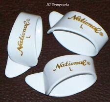 National Thumb Picks ~(3)~ NP8 Large Guitar Banjo NEW ~Free Shipping To U.S.A.~