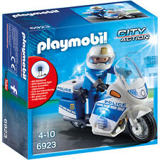 Playmobil City Action Police Bike with LED Light 6923 NEW